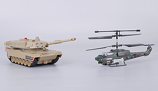 3 Channel Infrared R/C Helicopter VS Infrared R/C Tanks