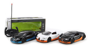 4CH R / C CAR (black and orange, white and orange, black and blue)