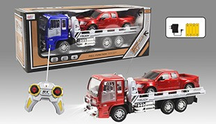 Stone remote control car with light tractors pack charging inertial pickup truck trailer