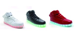 Bluetooth APP Hight cut PU material adult light shoes(US size:7-12)