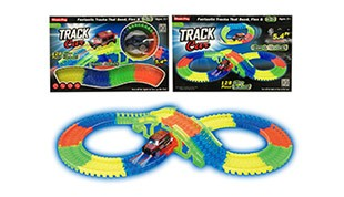 B/O TRACK(128PCS,glow in the dark,car with lights)